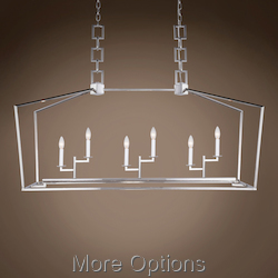 19Th C. English Openwork Linear Lantern 6 Light 54