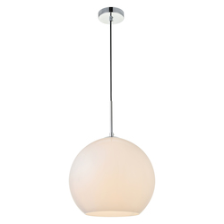 Living District LD2225C Baxter 11.8 Inch 1-Light Pendant With Frosted White Glass