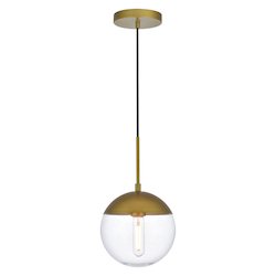 Living District LD6031BR Eclipse 8 Inch 1-Light Pendant