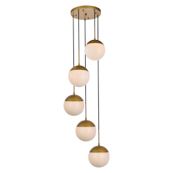Living District LD6078BR Eclipse 18 Inch 5-Light Pendant