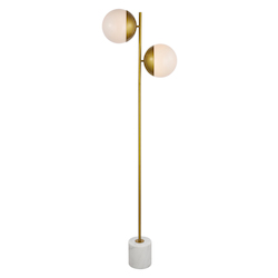 Living District LD6114BR Eclipse 2-Light Floor Lamp