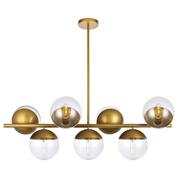 Living District LD6139BR Eclipse 18 Inch 7-Light Pendant