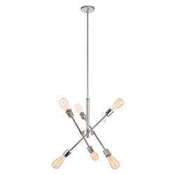 Living District LD8016D18PN Axel 18 Inch 6-Light Pendant