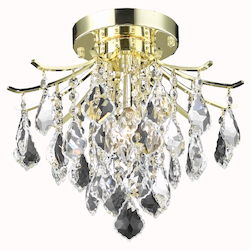 Living District LD8100F12G Amelia 12 Inch 3-Light Flush Mount