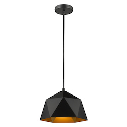 Bethel YS7702-1PS-BK Bethel Ys7702-1Ps-Bk Single Pendant Lighting