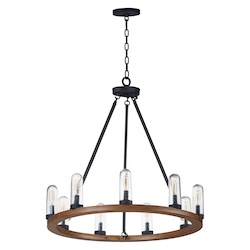 Maxim 30019CDAPBK Lido 9-Light Outdoor Chandelier