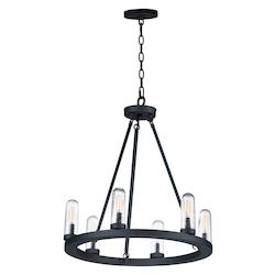 Maxim 30016CDBK Lido 6-Light Outdoor Chandelier
