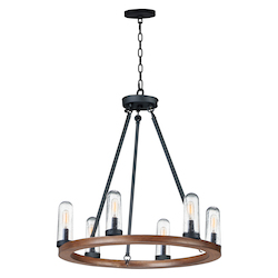 Maxim 30016CDAPBK Lido 6-Light Outdoor Chandelier