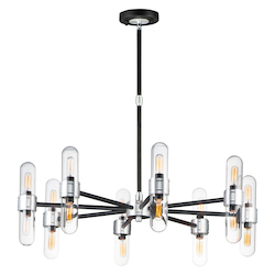 Maxim 21708CLBKAL Dual 16-Light Chandelier