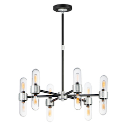 Maxim 21706CLBKAL Dual 12-Light Chandelier