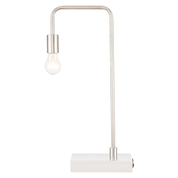 Elegant Decor TL3048PN Marceline 1 Light Polished Nickel Table Lamp