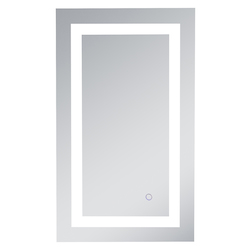 Elegant Decor MRE11830 Helios 18In X 30In Hardwired Led Mirror With Touch Sensor And Color Changing