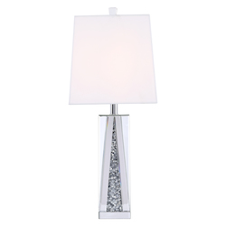 Elegant Decor ML9334 Sparkle Collection 1-Light Silver Crystal Table Lamp