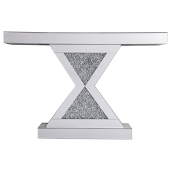 Elegant Decor MF92034 47 In. Crystal Mirrored Console Table