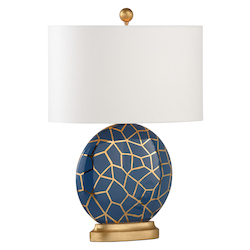 St Mary Lamp - Blue