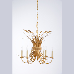 Wheat Chandelier - Gold