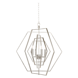 Hexagon Chandelier-Silver