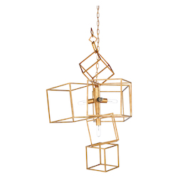 Cubist Chandelier - Gold