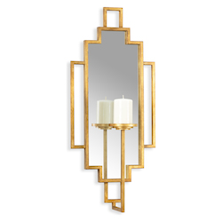 Gold Hampton Candle Sconce