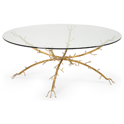 Gold Coral Coffee Table