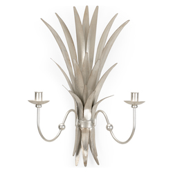 Wheat Sconce - Silver