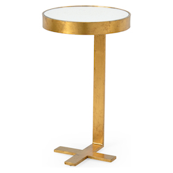 Mitchell Side Table-Gold