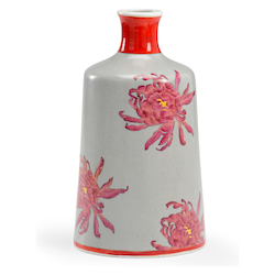 Chrysanthemum Vase-Grey