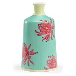 Chrysanthemum Vase-Green