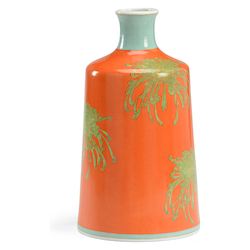 Chrysanthemum Vase-Orange