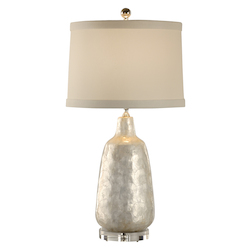 Shell Covered Urn Lamp
