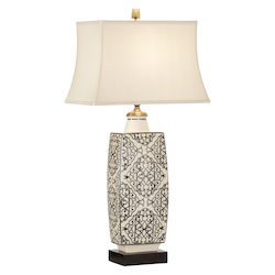 Embroidered Bottle Lamp-Black
