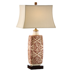 Embroidered Bottle Lamp-Red