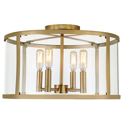 Bryant Four Light Semi-Flush Ceiling Light