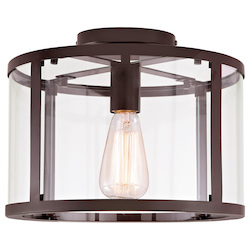 Bryant One Light Semi-Flush Ceiling Light