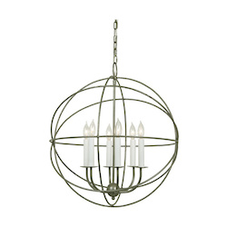 Six Light Globe Chandelier