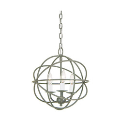 Three Light Globe Chandelier