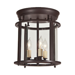 Murray Hill Bent Glass Ceiling Lantern  - Medium