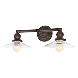 Union Square Two Light Ashbury Bathroom Wall Sconce