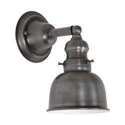 One Light Union Square Wall Sconce Gun Metal Finish 5