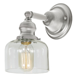 One Light Union Square Shyra Wall Sconce Pewter Finish 5