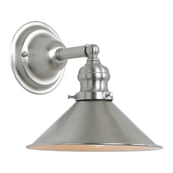 One Light Union Square Wall Sconce Pewter Finish 8