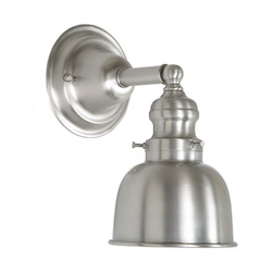 One Light Union Square Wall Sconce Pewter Finish 5
