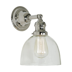 One Light Union Square Wall Sconce Polished Nickel Finish 7
