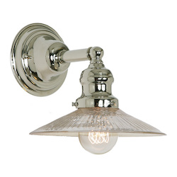 One Light Union Square Wall Sconce Polished Nickel Finish 8