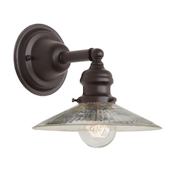 One Light Union Square Wall Sconce Oil Rubbed Bronze Finish 8
