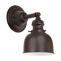 One Light Union Square Wall Sconce Oil Rubbed Bronze Finish 5