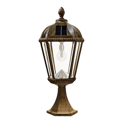 Royal Bulb Solar Light - W/Gs Solar Light Bulb - Post Mount - Weathered Bronze