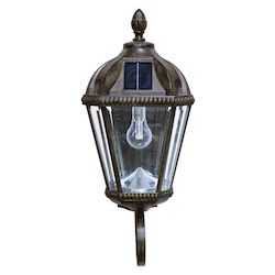 Royal Bulb Solar Light - W/Gs Solar Light Bulb - Wall Mount - Weathered Bronze