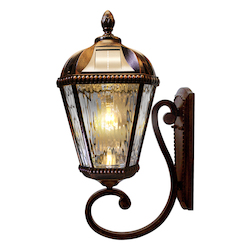 Royal Bulb Solar Light - W/Gs Solar Light Bulb - Wall Mount - Brushed Bronze
