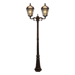 Royal Bulb Solar Lamp Post - W/Gs Solar Light Bulb - Double Lamps